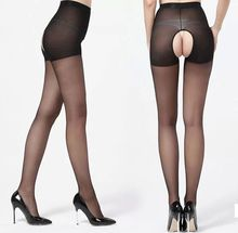 BEILEIIS Cheap Black Sexy Sheer Open Crotch Pantyhose Crotchless Stockings Sock Hosiery Tights for Sex Men Women Erotic Lingerie