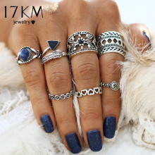 Buy 17KM Hollow Vintage Pattern Turkish Flower Leaves Knuckle Ring Sets Midi Love Big Rings Women Ring Man Jewelry 7PCS/Set for $1.97 in AliExpress store