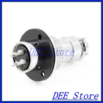 Flange Mounting Aviation Connector Plug Adapter 19mm Diameter GX20 4 Pin<br><br>Aliexpress