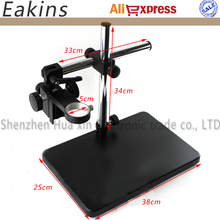 Big Size Adjustable table Stand Holder +Multi-axis Adjustable Metal Arm for Lab Industry Microscope Camera