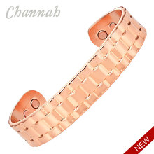 Channah Gentlemen 2015 Copper Bangle Jewelry Supreme Quality Magnetic Men Bio Healing Wristband Charm Fast Delivery(China)
