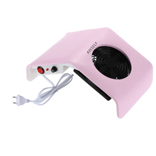 220V Nail Art Dryer Salon Suction Dust Collector Machine Vacuum Cleaner Salon Tool Plastic UV Gel Tip Machine Nail Tools(China)