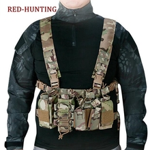 Holder Chest-Vest Light-Weight Airsoft Tactical Pouch Molle for M4 M16