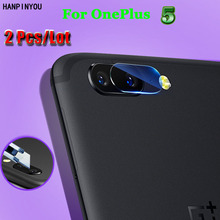 "2 Pcs / Lot For Oneplus 5 1+ 5 5.5"" Ultra Clear Soft Fiber Transparent Tempered Glass Back Camera Lens Screen Protector Film"