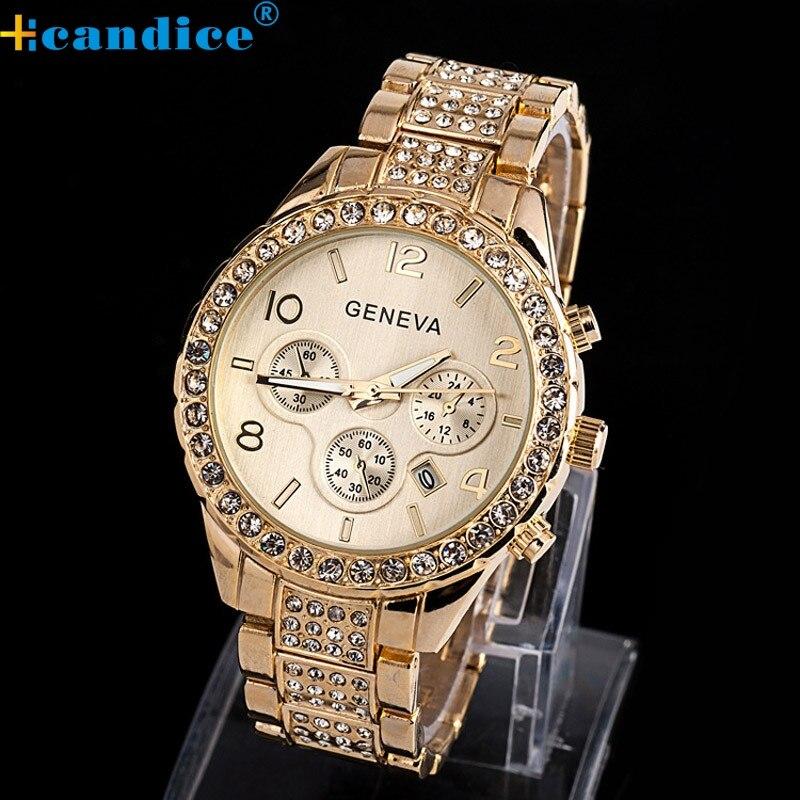 Brand New Geneva Watch Women Rose Gold Fashion Luxury Crystal Quartz Wristwatches Splendid<br><br>Aliexpress
