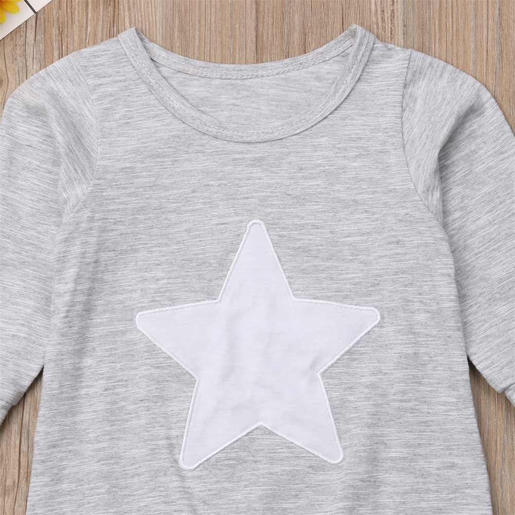 Cotton Baby Rompers Newborn Baby Boy Girl 2018 New Autumn Long Sleeve Star Tops Playsuit Baby Clothes Bebe Outfit 0-18M