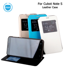 For Cubot Note S /Cubot Dinosaur PU Leather Case View Window with hard shell Flip Cover for Original Cubot Note S Cell Phone