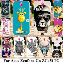 Mobile Phone Cases For ASus Zenfone Go ZC451TG ASUS_Z00SD ZenFoneGo 4.5 inch Covers Animal Back Housings Silicone Plastic Bags