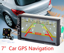 7 inch 2 Din Car MP5 Player GPS Navagation Bluetooth Auto Multimedia Player Support FM Radio Rear View Camera Remote Control