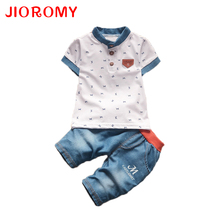 JIOROMY Children Boys Clothing Sets Baby Boys Top + Shorts Summer Set Toddler Kids Tracksuit Clothes Sport Suit Set(China)