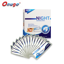 1 Box Onuge Advanced Dry Teeth Whitening Night Strips 40 Dry Whitening Strips Sleeping Use Teeth Whitening Strips
