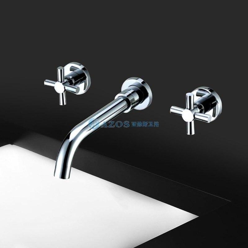 Contemporary Widespread Wall Mount Bathroom Sink Faucet MPAZ002B<br><br>Aliexpress