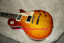 High Quality Honey Jimmy Page TWO Electric Guitar lp guitars Mahogany Body Free Shipping