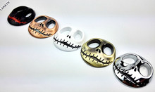 100 Pieces Metal Halloween Town Pumpkin King Skull Car-styling Stickers Decoration Metal JACK Skellington Skull Car Emblems(China)
