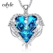 3a45498615098 Cdyle cristales de Swarovski, collares de joyería de moda para las mujeres  azul colgante de diamantes de imitación Corazón de Án..