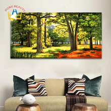HOME BEAUTY 50*100 painting calligraphy diy oil pictures by numbers canvas painting paint by number coloring drawing trees DY30(China)