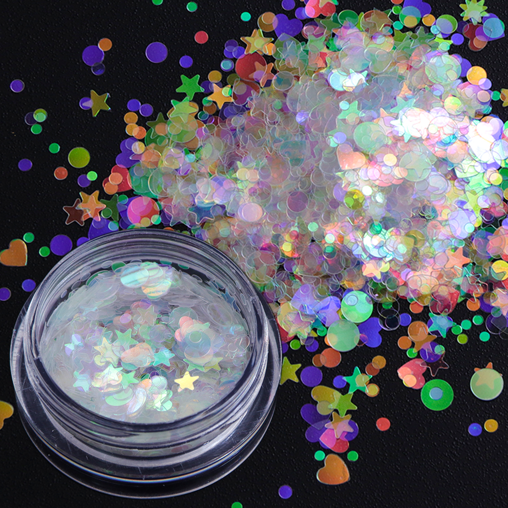 AB Color Flakes Nail Sequins1