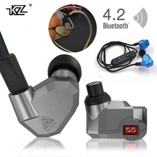 In Stock Orginal KZ ZS5 2DD+2BA  Bluetooth Wireless Earphones HIFI Monitor DJ Hybrid Detach MMCX Earphones  Headset