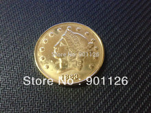 1863 LIBERTY HEAD (NO MOTTO ON REVERSE) $20 Gold one Dollar Copy Free Shipping Exact Coin