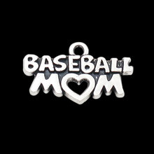 HAEQIS Online Wholesale Vintage Baseball Mom Letter Alloy Charms 15*26mm AAC087