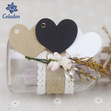 50pcs 4.5x45cm Kraft Paper Card Wedding Favour Gift Tag DIY Tag Price For Wedding Event&Party Favor Gift Box Package