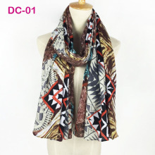 Gorgeous Latest Design Bandana Printing Winter Scarf Women Shawls Thicken Wings Scarf Warm Scarves Brand Scarf Wrap DC-01