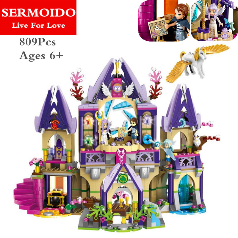 SERMOIDO Building Block Compatible with Lepine Elves Skyras Mysterious Sky Castle Brick Educational Toys For Children B68<br>