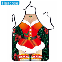 Creative Christmas decorations apron funny Christmas decoration for home Cute couple sexy uniforms temptation dress pinafore(China)