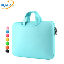 Hot Zipper Computer Sleeve Case For Macbook Laptop AIR PRO Retina 11 12 13 14 15 13.3 15.4 15.6 inch Notebook Touch Bar Bag(China)