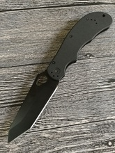 Grady Fung Manufacture Tactical Alpha Scout Tanto Folding Combat Knife AUS-8 Black Blade Handle