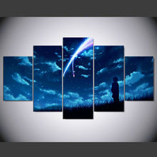 5 panel Art Abstract Indoor Decor mt Anime cosplay A21 your name Miyamizu Mitsuha canvas decoration IM-232