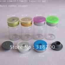 1500 x 6ml glass vial with flip off cap, sample vial,essence oil glass bottle,2ml,3ml,till 20ml is available(China)