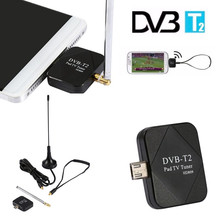 Mini Micro USB DVB-T Digital Mobile TV Tuner Receiver Antenna for Android Phone PC with USB OTG USB TV tuner pad TV stick(China)