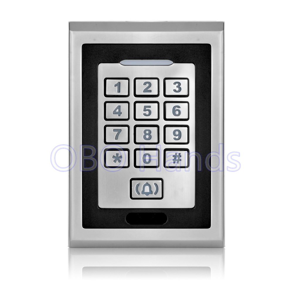 Free shipping silver metal access control keypad waterproof smart card reader for rfid door access control system digital lock<br>