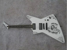 2016 New + Factory + Metallica James Hetfield Papa Het White ESP Explorer Electric Guitar active Pickups ESP explorer guitar