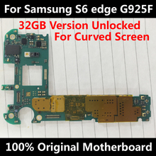 Official Phone Motherboard For Original Samsung Galaxy S6 edge G925F 32GB Unlocked With Chips IMEI OS Whole Mainboard EU Version