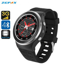 Original ZGPAX S99 Bluetooth Smart Watch Phone MTK6580 Quad core 360*360 SIM 3G WiFi GPS google play Smartwatch for IOS Android