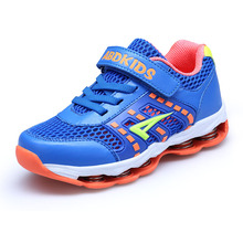 2017 New Children Sneakers Breathable Boy Girls Shoes Summer Walking Sneakers Blue Red Kd Trainers Brand Kids Running Shoes