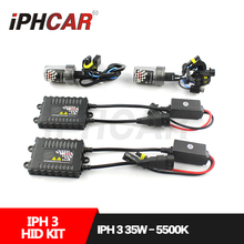 Free Shipping IPHCAR Car Styling Hid Xenon H1 H7 H11 9004 9005 9006 9007 Bulb Kit 35W HID Light Kit with Slim Ballast