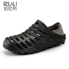 POLALI Summer Men Clogs For Lovers Sandals Cut-Outs Shoes Unisex Slip On Flats Casual Slippers Flip-flops For Man(China)