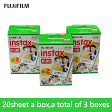 Fujifilm new packing the first 60 computer Fuji Instax white mini movie 60 Instax mini instant photo paper Free shipping(China)