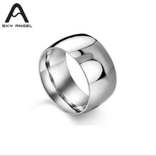 SkyAngel fashion Wedding Ring For women Fashion Jewelry Silver Stainless Steel Rings men 10cm width girls ring for party