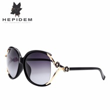 HEPIDEM 2017 Luxury Polarized Sunglasses Women Brand Designer Oversized Flower Decorative Ukraine Sun Glasses for Women with box