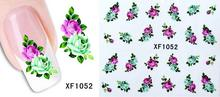 XF French manicure nail stickers affixed row pen watermark plum flower XF1052
