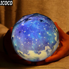 ICOCO Starry Sky Magic Projector Lamp Constellation/Planet/Earth/Christmas Rotating Galaxy LED Night Light Cosmos Universe Light(China)