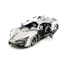 P-Flame Mini Supercar DIY 3D Metal Puzzle Nano Assenble Model Intelligence Toys Adult Jigsaw Model Decoration Collection Gift(China)