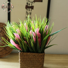 4 Colours 1PC Artificial Plastic 5 Heads Hyacinth Water Grass Plant Silk Flower Wedding Flower Arrangement Home Decoration