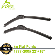 "Wiper Blades for Fiat Punto 1999-2005 22""+18"", 2pcs free shipping, Best Rated Windshield Wipers(China)"