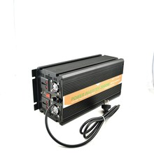 MKELE 24V to 110VAC  inverter dc to ac power inverter with battery charger 2000W
