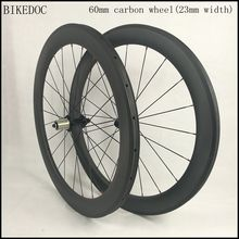 BIKEDOC 60mm road carbon wheels with 23mm width racefiets wielen 700c bicycle wheel quick delivery rodas carbono estrada